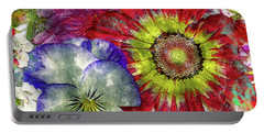 33a Abstract Floral Painting Digital Expressionism Art Portable Battery Charger