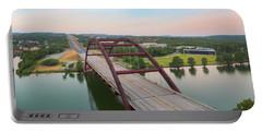 360 Bridge Panorama Summer Morning 1 Portable Battery Charger