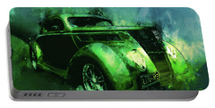 37 Ford Street Rod Luv Me Green Meanie Portable Battery Charger