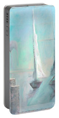 Portable Battery Charger featuring the painting A Morning Memory by James Lanigan Thompson MFA