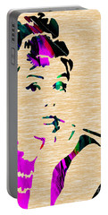 Audrey Hepburn Collection Portable Battery Charger by Marvin Blaine