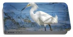Snowy Egret Portable Battery Charger by Tam Ryan