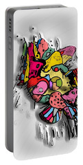 3d Popart By Nico Bielow Portable Battery Charger