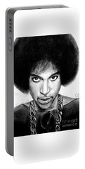 3rd Eye Girl - Prince Charcoal Portrait Drawing - Ai P Nilson Portable Battery Charger