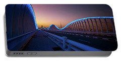 Amazing Night Dubai Vip Bridge With Beautiful Sunset. Private Ro Portable Battery Charger