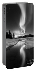 Aurora Borealis Over Sandvannet Lake Portable Battery Charger by Arild Heitmann