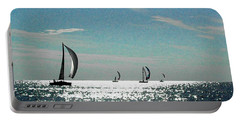 4 Boats On The Horizon Portable Battery Charger