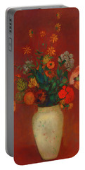 Portable Battery Charger featuring the painting Bouquet In A Chinese Vase by Odilon Redon