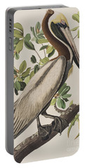 Brown Pelican  Portable Battery Charger by John James Audubon