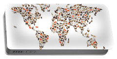 Cats Map Of The World Map Portable Battery Charger