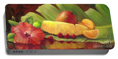 4 Cherries Portable Battery Charger by Laurie Hein