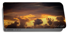Cloudscape Of Orange Sunset Riga Latvia Artmif Portable Battery Charger