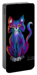 Colorful Cat Portable Battery Charger by Nick Gustafson