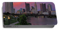 D2l37 Columbus Ohio Skyline Photo Portable Battery Charger