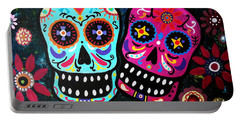 Couple Day Of The Dead Portable Battery Charger