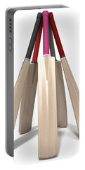 Cricket Bat Circle Portable Battery Charger by Allan Swart