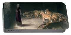 Daniel In The Lions Den Portable Battery Charger by Briton Riviere