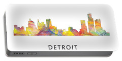 Detroit Michigan Skyline Portable Battery Charger