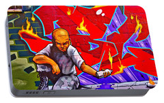 Portable Battery Charger featuring the photograph East Village Street Art 2014 by Joan Reese