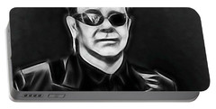Elton John Collection Portable Battery Charger by Marvin Blaine