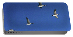 4 Geese In Flight Portable Battery Charger
