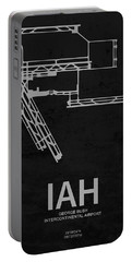 George Bush Intercontinental Airport In Houston Usa Runway Silho Portable Battery Charger
