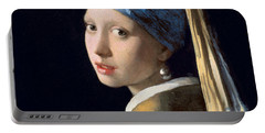 Girl With A Pearl Earring Portable Battery Charger