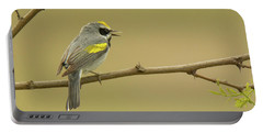 Golden-winged Warbler Portable Battery Charger by Alan Lenk