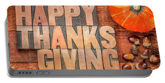 Happy Thanksgiving Greeting Card Portable Battery Charger
