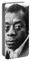 Portable Battery Charger featuring the photograph James Baldwin by Granger