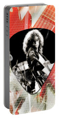 Jimmy Page Led Zeppelin Art Portable Battery Charger by Marvin Blaine