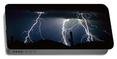 4 Lightning Bolts Fine Art Photography Print Portable Battery Charger