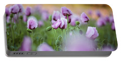 Lilac Poppy Flowers Portable Battery Charger