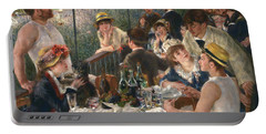 Luncheon Of The Boating Party Portable Battery Charger