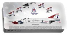 Mcdonnell Douglas F-4e Phantom II Thunderbirds Portable Battery Charger by Arthur Eggers