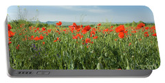 Meadow With Red Poppies Portable Battery Charger