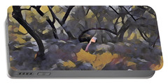 Morning Walk Trees Portable Battery Charger