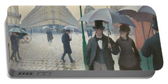Paris Street, Rainy Day Portable Battery Charger by Gustave Caillebotte
