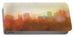Portable Battery Charger featuring the digital art Parsippany New Jersey Skyline by Marlene Watson