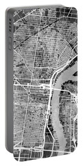 Philadelphia Pennsylvania Street Map Portable Battery Charger