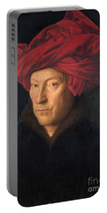Portrait Of A Man  Portable Battery Charger by Jan van Eyck