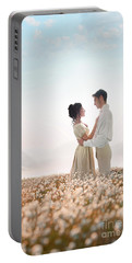 Regency Couple Portable Battery Charger by Lee Avison