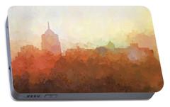 Portable Battery Charger featuring the digital art Roanoke Virginia Skyline by Marlene Watson