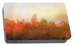 Portable Battery Charger featuring the digital art San Jose California Skyline by Marlene Watson