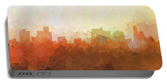 Portable Battery Charger featuring the digital art Springfield Illinois Skyline by Marlene Watson