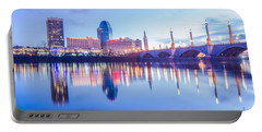 Springfield Massachusetts City Skyline Early Morning Portable Battery Charger