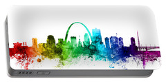 St Louis Missouri Skyline Portable Battery Charger by Michael Tompsett