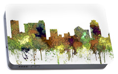 Portable Battery Charger featuring the digital art St Petersburg Florida Skyline by Marlene Watson