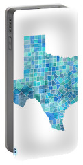 Texas Watercolor Map Portable Battery Charger
