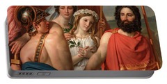 The Anger Of Achilles Portable Battery Charger by Jacques Louis David